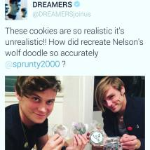 Dreamers enjoying their first set (of several) Delish custom creations. (2015)