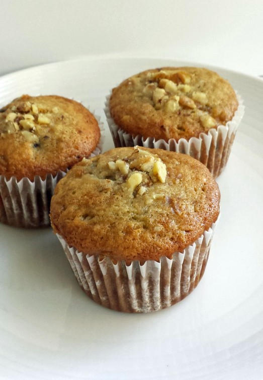 Banana Chocolate Walnut muffins